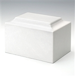 White Cultured Marble Urn