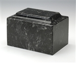 Ebony Ionian Cultured Marble Urn