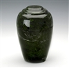 Antique Verdi Grecian Cultured Marble Urn