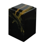 Onyx Agean (Black with Gold) Cult. Marble Urn