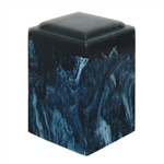 Navy Agean Cultured Marble Urn
