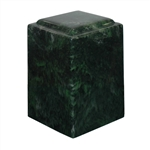 Antique Verde Agean Cultured Marble Urn