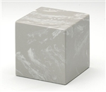 Silver Gray Small Cube Keepsake