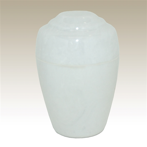 White Small Grecian Cultured Marble Urn