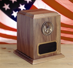 Oversize Walnut Military Spec Urn