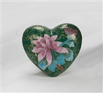 Green Copper Cloisonné Heart