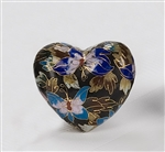 Black Copper Cloisonné Heart