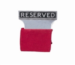"Aluminum ""Reserved"" Seat Signs"