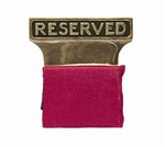"Gold Plated ""Reserved"" Seat Signs"