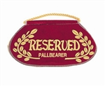 "Deluxe ""Reserved Pallbearer"" Seat Signs"