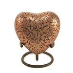 Copper Oak Keepsake Heart