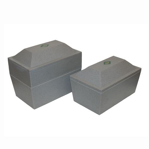 Grey Oversized Burial Vault