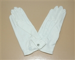 Cotton Pallbearer Gloves with Snap Wrist