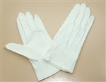 Cotton Pallbearer Gloves with Dotted Palms