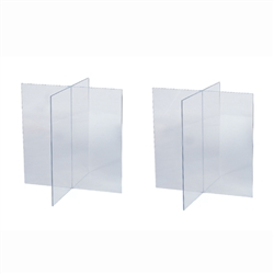 Clear Acrylic Casket Display Supports