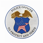"Police 12"" Hearse/Lead Car Magnet"
