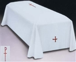 Casket Pall with the CHI RHO and Cross