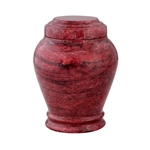 Embraced Red Marble Keepsake