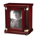 Honor II Photo Memorial Urn Chest