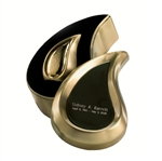 Brushed Brass Finish Tear Drop Ultra Keepsake Set