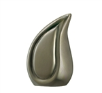 Brushed Pewter Finish Tear Drop Keepsake