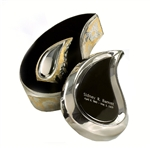 Silver & Gold Finish Tear Drop Ultra Keepsake Set
