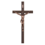 "12"" Walnut Exterior Crucifix"