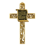"9"" Fine Pewter Cross With 23rd. Psalm"