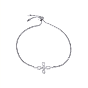 Cool adjustable micro pave cross bracelet