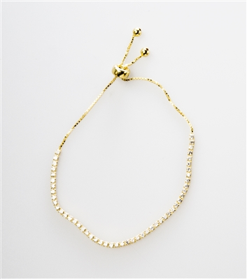 Cute gold over silver adjustable bracelet