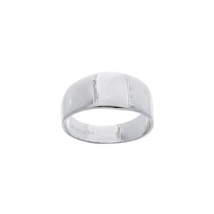 Contemporary Silver Polished Band Ring