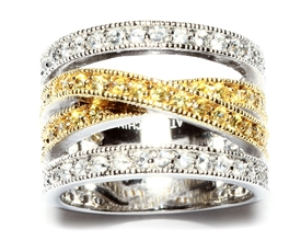 Two Tone Open Band Ring