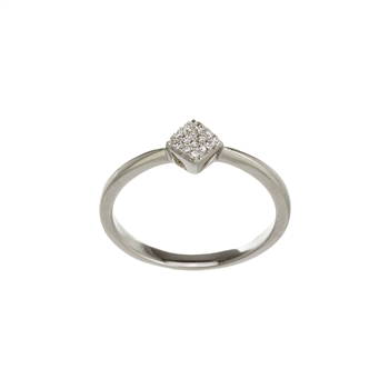 Small Square Micro Pave Ring