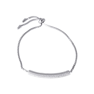 Sharp Pave Bar Bracelet