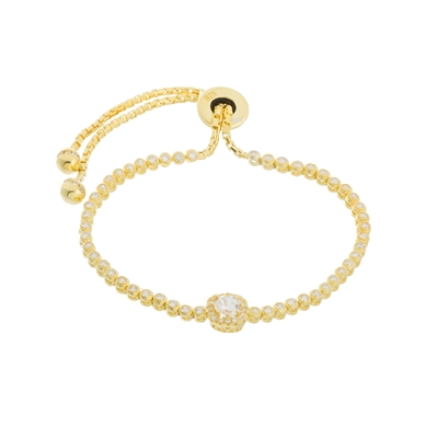 14K Gold Over Sterling Silver Adjustable Bracelet