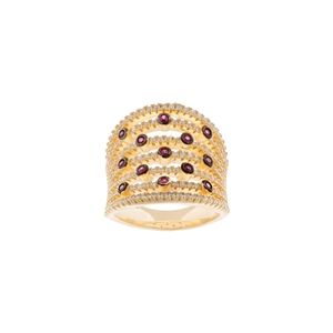 Stylish Multi Row Bezel Ring