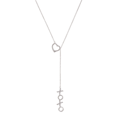 Adorable Heart and XoXo Lariat Necklace