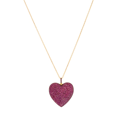 Radiant Pink Heart Necklace