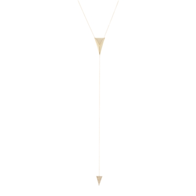 "Gold Over Silver ""Y"" Necklace"