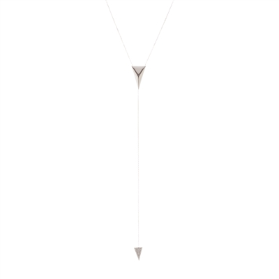 "Silver ""Y"" Necklace"