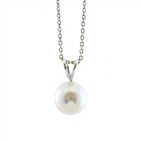 White Freshwater Pearl Pendant Necklace