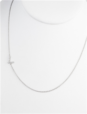 "A Cool Side Necklace With Initial ""L"""