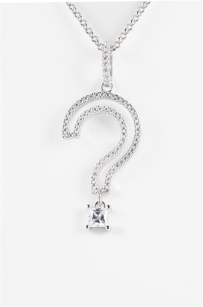 Chic open question mark necklace aloadofball Image collections
