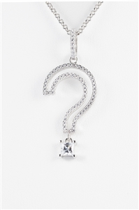 Chic Open Question Mark Necklace