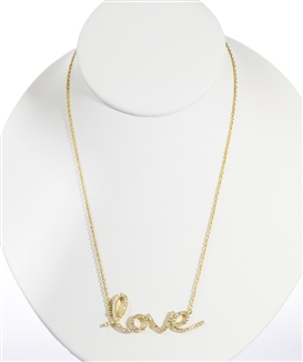 Gold Over Silver Love Necklace