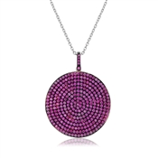 Fabulous Round Pink Pendant Necklace