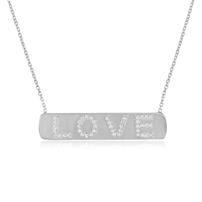 Silver Love Pendant Necklace