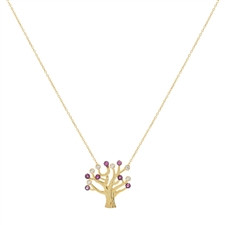Gold Over Sterling Silver Tree Necklace