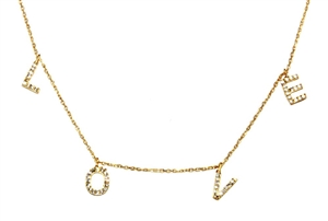 Gold Over Sterling Silver Love Necklace
