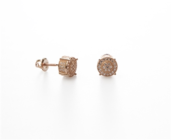 Rose Gold over .925 Sterling Silver Stud Earrings